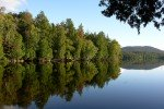 Picture of Moose Pond near Lake Plaicd in the Adirondack Mountains of New York.